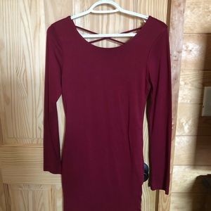 Dresses & Skirts - Burgundy red fitted dress